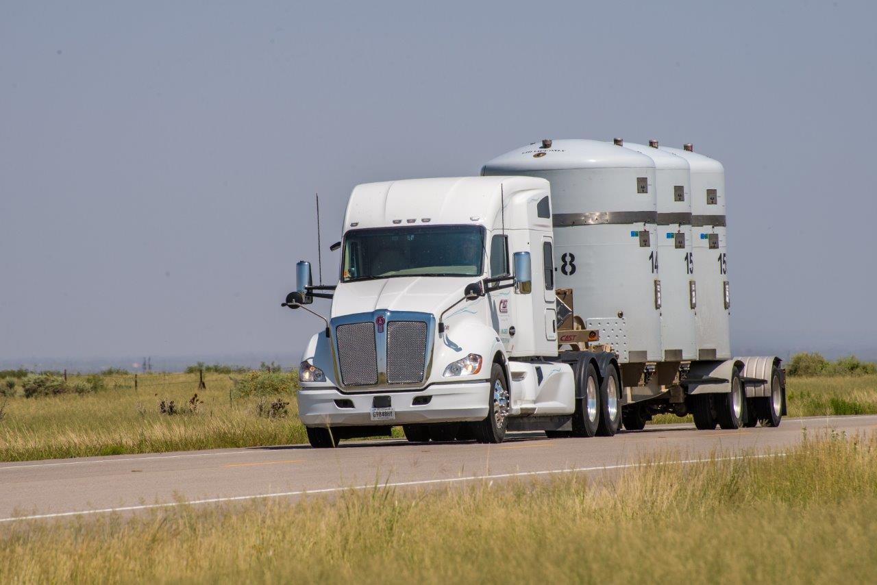 Photo of WIPP Semi hauling TRU-Pacts