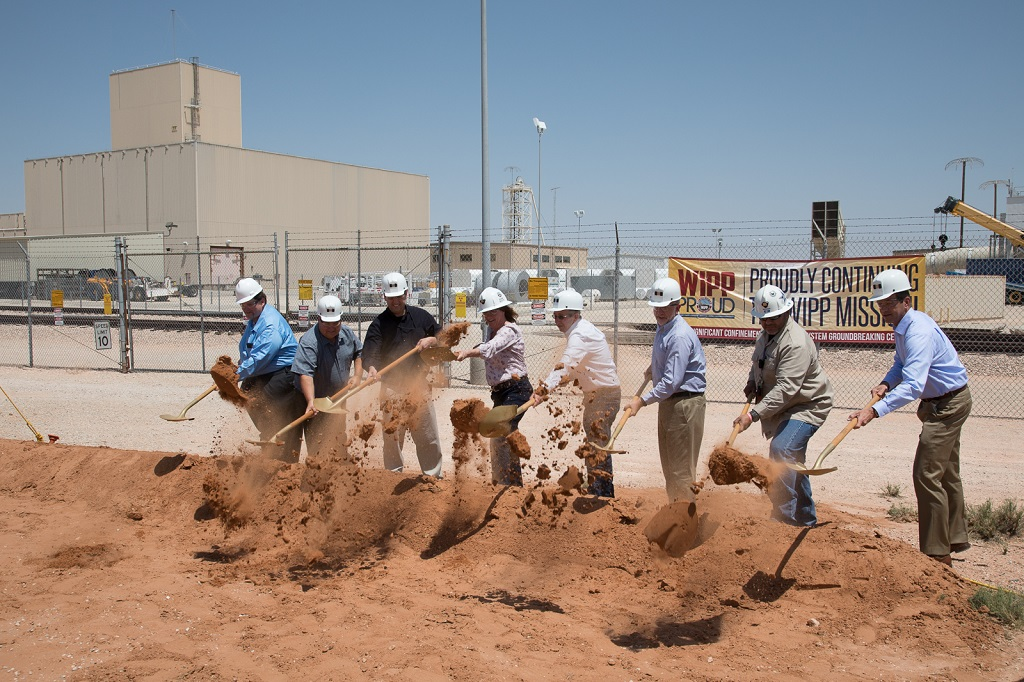 Photo of WIPP Breaking Ground for New Ventilation System